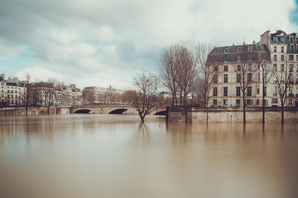 La Seine déborde durant l'hiver 2018